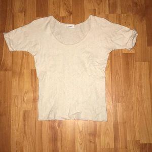 Club Monaco off white cashmere sweater